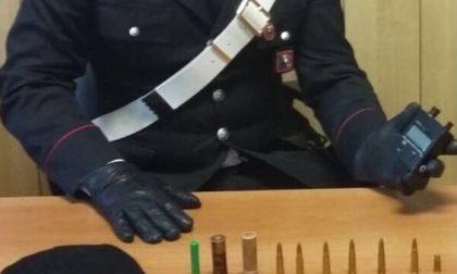 Proiettili e  passamontagna in casa: arrestato