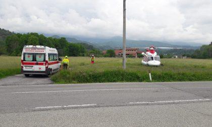 Ciclista investito a Castellamonte, portato in ospedale