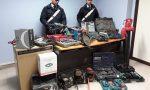 Magazzino merce rubata scoperto a Nole   FOTO