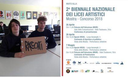 Biennale Nazionale Licei artistici selezionata opera di studenti del Faccio