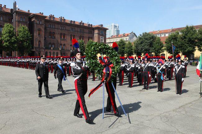 Cerimonia degli alamari, la consegna agli allievi Carabinieri