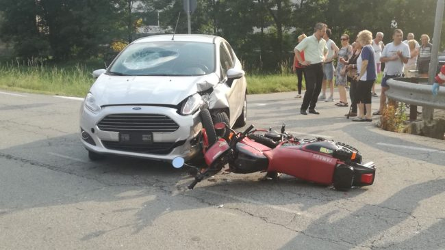 Incidente a Busano, ferito un centauro di Rivara