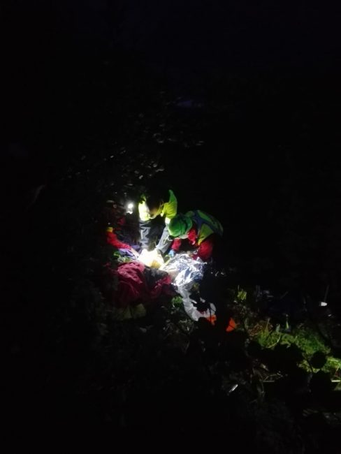 Escursionista salvato dal soccorso alpino nella notte