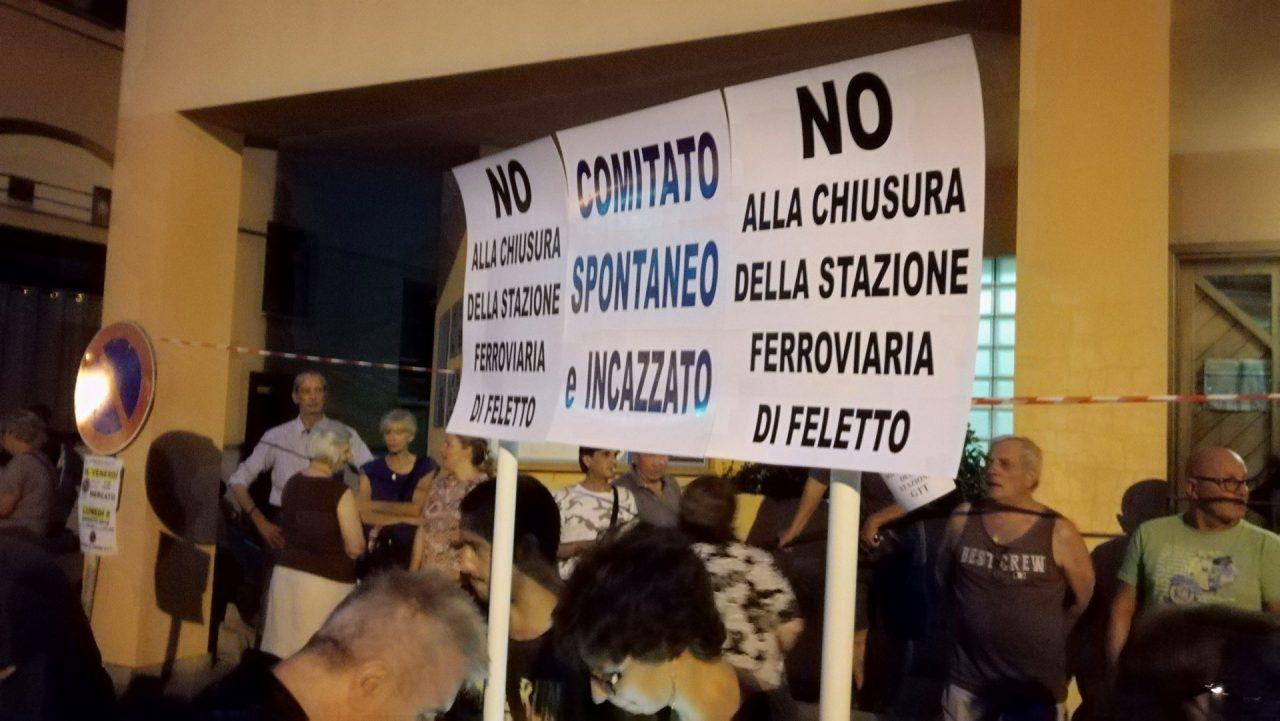 Manifestazione Feletto contro la soppressione della fermata da parte di Gtt