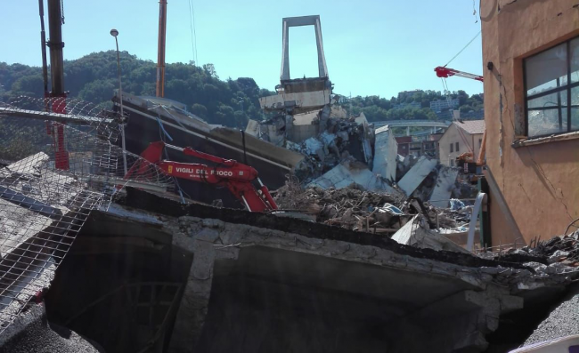 Crollo Ponte Morandi Genova, fra i soccorritori anche i Vigili del Fuoco torinesi   FOTO e VIDEO