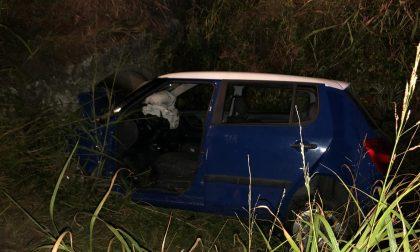 Auto fuori strada, ferito giovane 30enne