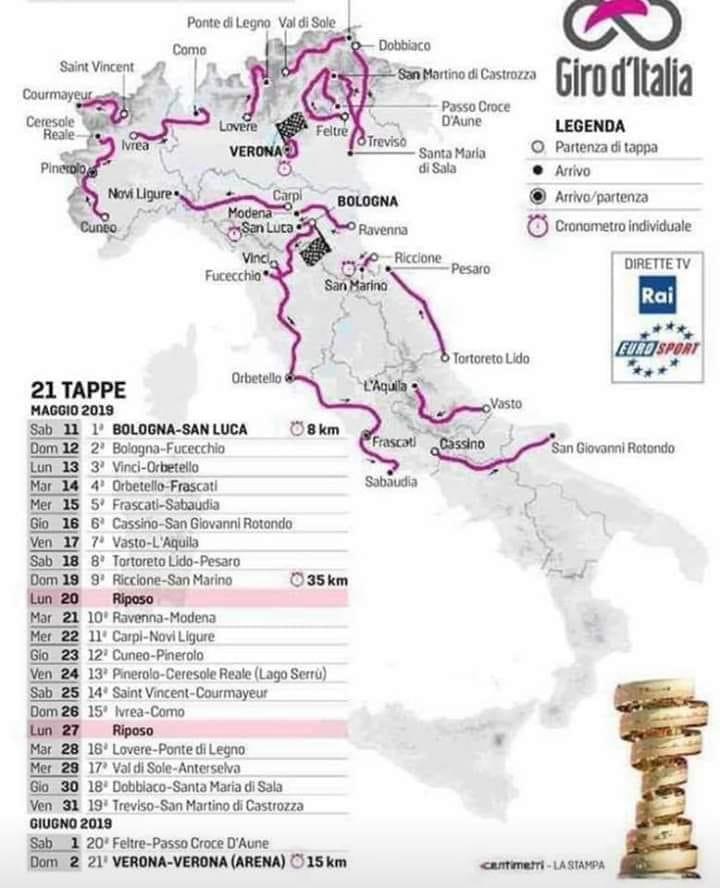 Calendario Giro D Italia.Il Giro D Italia 2019 Torna In Canavese Ecco Le Possibili Tappe