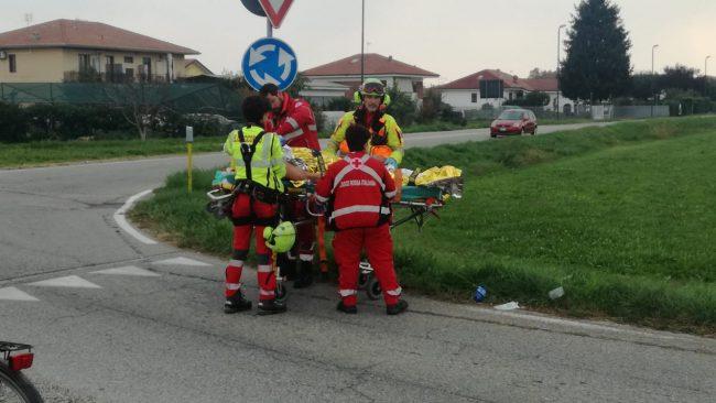 Incidente a Rivarolo, ferito un ciclista