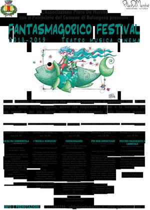 Fantasmagorico Festival a Balangero, domenica il primo dei 5 appuntamenti