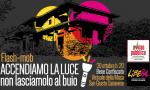 """Flash mob di Libera """"Accendiamo la luce"""" a San Giusto"""