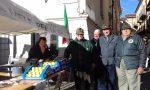 I generosi Alpini di Cuorgnè in piazza per la ricerca contro il cancro