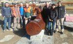 Nuova fontana a Ceresole realizzata dagli operai del gruppo forestale