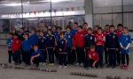 Bocce giovani giocatori in campo a Pont Canavese