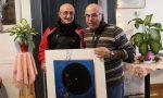 Un'opera dell'artista Giuseppe Obertino donata al Centro anziani di Cuorgnè