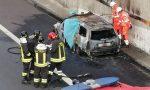 Auto prende fuoco in Tangenziale Est di Milano: un morto VIDEO