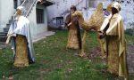 Il presepe in paglia e l'albero di Natale di Campo Canavese conquistano tutti