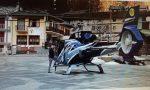 Parcheggia l'elicottero in piazza a Usseglio, denunciato