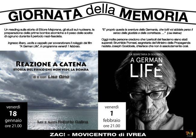 Giornata della Memoria: due eventi a Ivrea