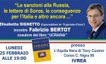 Ucraina Bertot lunedì 25 febbraio presenta il suo libro a Ivrea