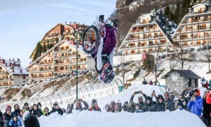 Sulle piste di Prato Nevoso il primo salto mortale su una