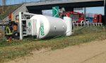 Volpiano: Camion cisterna si ribalta sull'autostrada Torino-Aosta