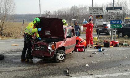 Incidente a San Giorgio, tre auto coinvolte | FOTO