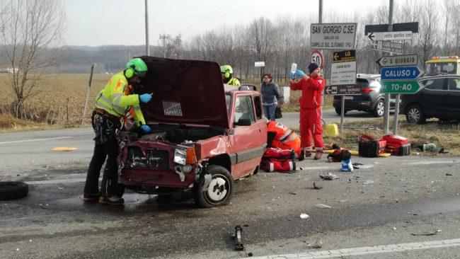 Incidente a San Giorgio, tre auto coinvolte   FOTO