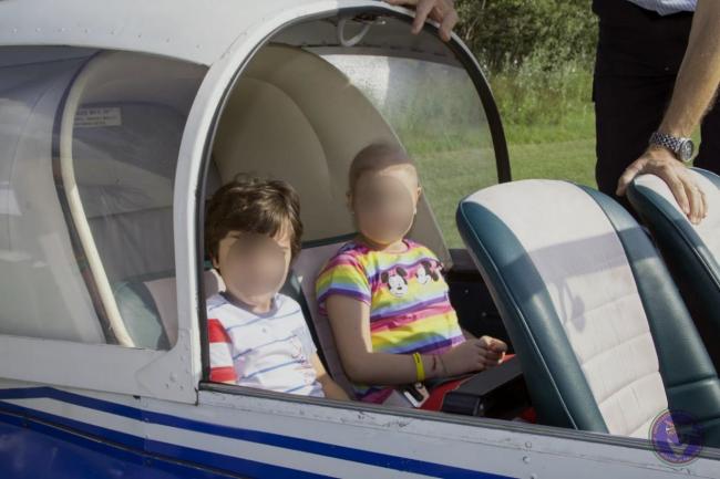 Bimbi meno fortunati in volo con l&#8217&#x3B;associazione &#8220&#x3B;Piccoli Aviatori&#8221&#x3B; | FOTO