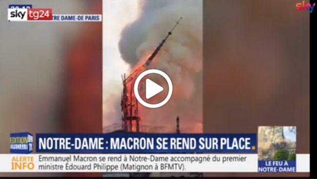 Incendio a Notre Dame, come alla Sacra di San Michele un anno fa