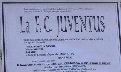 Manifesto funebre per la Juventus