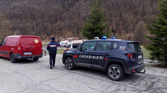 Carabinieri salvano scialpinista 70enne