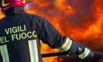 Incendio boschivo nelle Valli di Lanzo nella notte