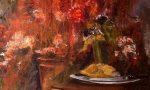 """Composizioni in rosso: i quadri di Miro Gianola in mostra alla """"Tappero"""""""