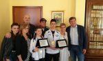 Giovani atleti della Uisp River di karate premiati in Comune