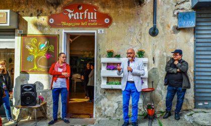 Inaugurate in piazza Pinelli a Cuorgnè Le Botteghe del Possibile