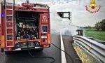 Auto in fiamme: tangenziale chiusa