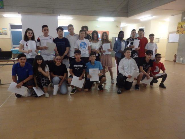 Festa di fine anno per le classi terze della scuola media di Forno Canavese