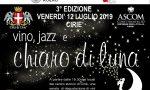 """Vino, jazz e chiaro di luna"" venerdì sera a Ciriè"