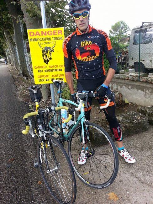 """Da Torino a Madrid in bici per il """"Basta Corrida Veg Tour 2019"""""""