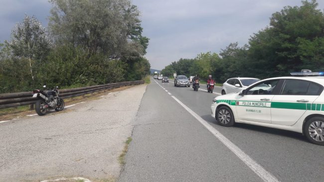 Moto contro  bicicletta incidente a Rivarolo