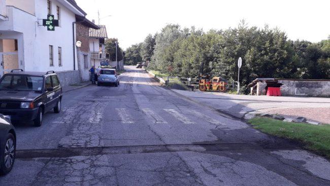 Lavori in corso lungo le strade di Castellamonte