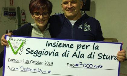 A cena per la seggiovia:  7 mila euro