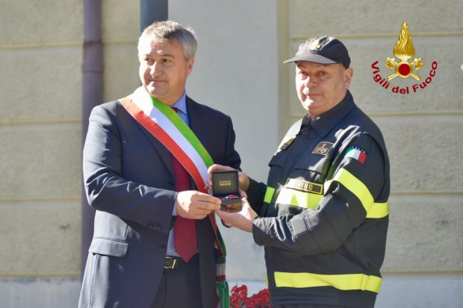 cittadinanza onoraria al comando provinciale dei Vigili del Fuoco di Torino