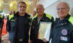 Riconoscimento a due membri della Protezione Civile di Bollengo