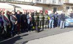 Vigili del fuoco canavesani rendono omaggio ai colleghi morti ad Alessandria | FOTO e VIDEO