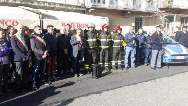 Vigili del fuoco di Castellamonte rendono omaggio ai colleghi morti ad Alessandria | FOTO e VIDEO