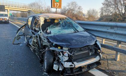 Schianto in autostrada fra Scarmagno e San Giorgio, ferito un 19enne di Ivrea | FOTO