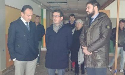 Cafasse: il sopralluogo del presidente della Regione Cirio alla scuola Media