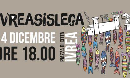 Sardine in piazza di Città sabato 14 dicembre a Ivrea