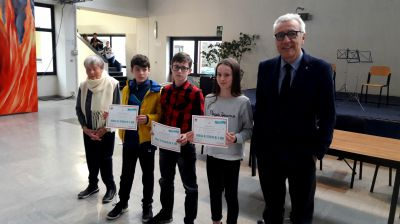 Borse di studio a tre eccellenti studenti della scuola media Cena di Castellamonte